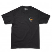 FOX T-Shirt Men's Racer Tee 100% Ringspun Cotton Black