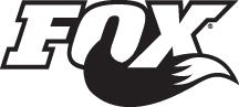Fox Logo sort hvid